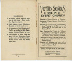 Undated - Miscellaneous - Victory Schools - One in Every Church by L. R. Scarborough